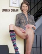 Lauren Cohan Boobs Vagina Legs Spread Porn Fake 001