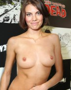 Lauren Cohan Topless Fake 001
