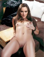 Leighton Meester Squeezing Small Tits Naked Fake 001