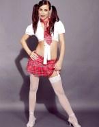 Lena Meyer Landrut Sexy Schoolgirl Outfit - Fake 001