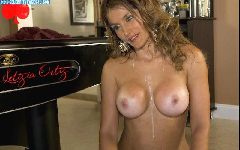 Letizia Ortiz Fake, Cumshot, Tits, Porn