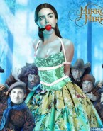 Lily Collins Movie Cover Gagged Nsfw Fake 001