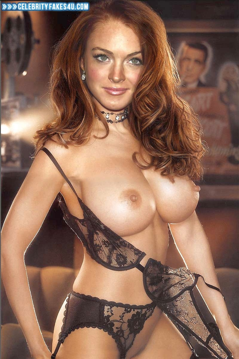 Lindsay Lohan Fake, Big Tits, Bra, Lingerie, Stockings, Undressing, Very Nice Tits, Porn