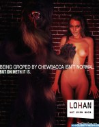 Lindsay Lohan Naked Body Squeezing Tits 001