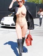 Lindsay Lohan Public Camel Toe Naked 001
