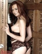 Lindsay Lohan Sideboob G String 001