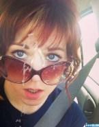 Lindsey Stirling Cumshot Facial Selfie Nsfw Fake 001
