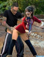 Lindsey Stirling Doggystyle Outdoor Sex Fake 001