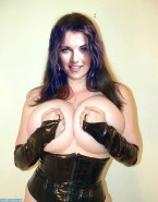 Lucy Lawless Huge Boobs Pinching Nipples Porn 001