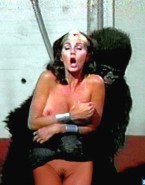 Lynda Carter No Underwear Squeezing Tits Naked 001