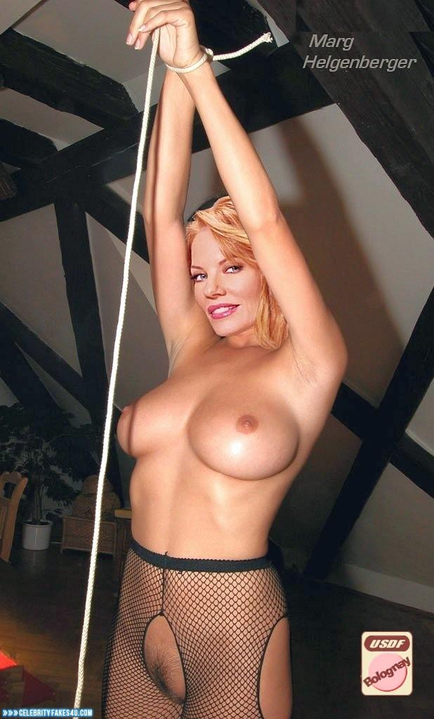 Marg Helgenberger Fake, Big Tits, Bondage, Stockings, Porn
