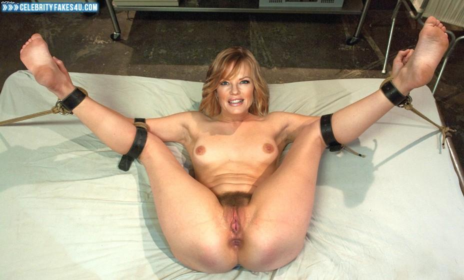 Marg Helgenberger Fake, Bondage, Legs Spread, Porn
