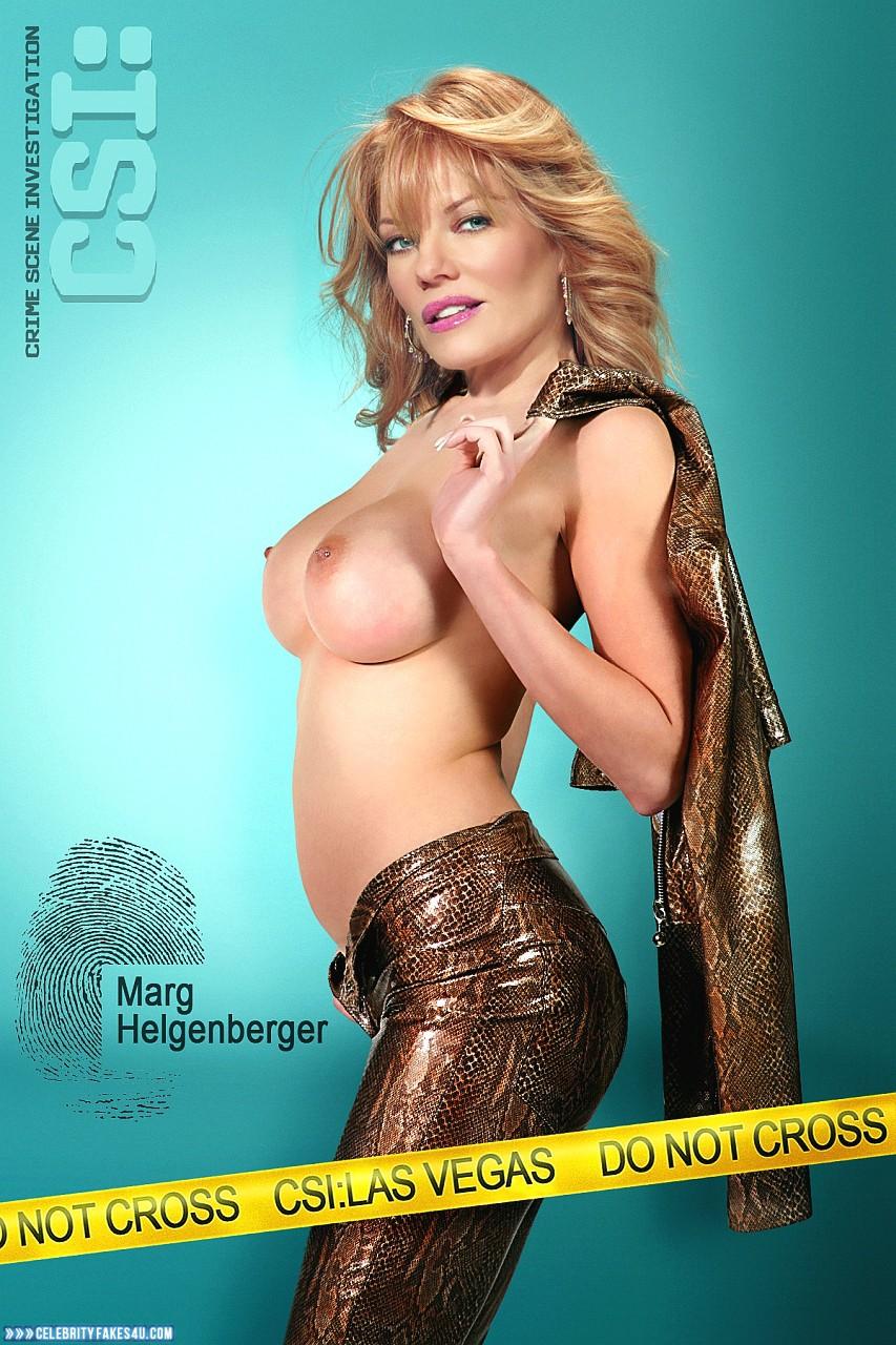 Marg Helgenberger Fake, Topless, Undressing, Porn