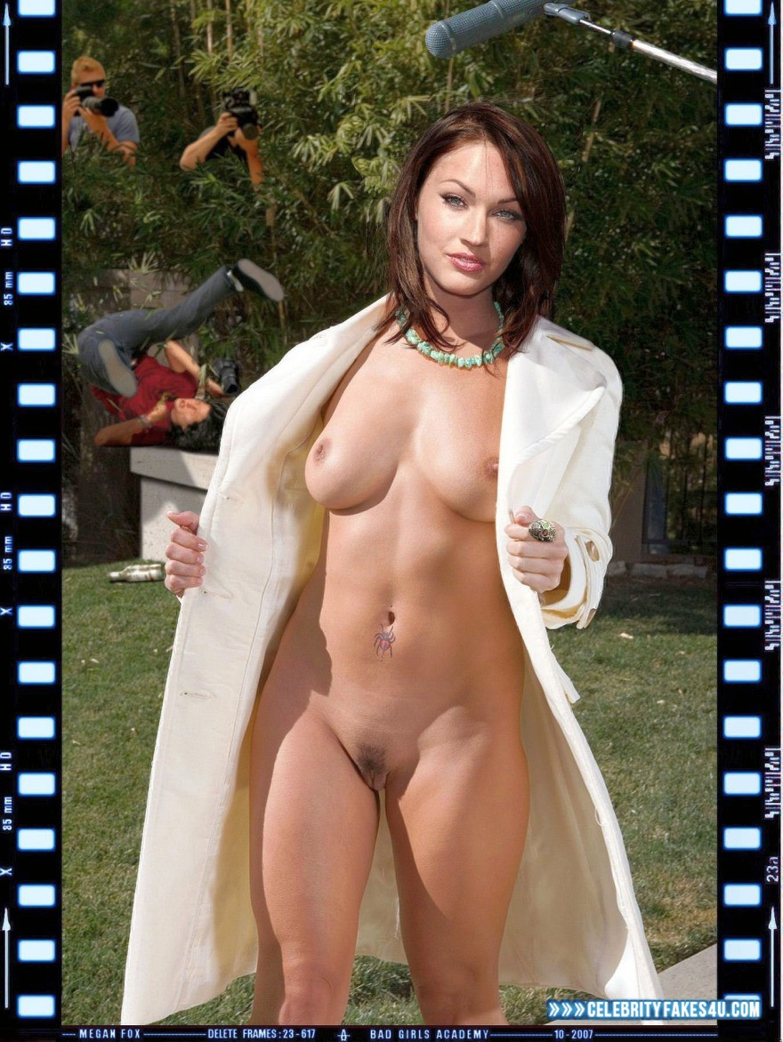 Megan Fox Fake, Flashing Tits, Naked Body, Nude, Tits, Voyeur, Porn