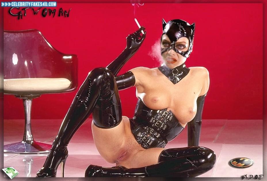 Michelle Pfeiffer Fake, Catwoman, Legs Spread, Smoking, Tits, Porn