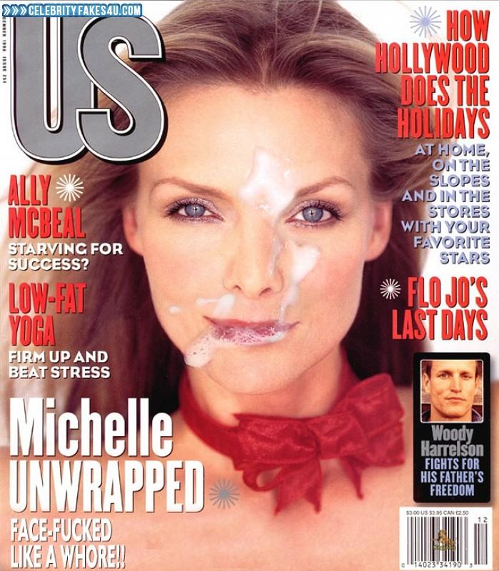 Michelle Pfeiffer Fake, Cum Facial, Magazine Cover, Porn