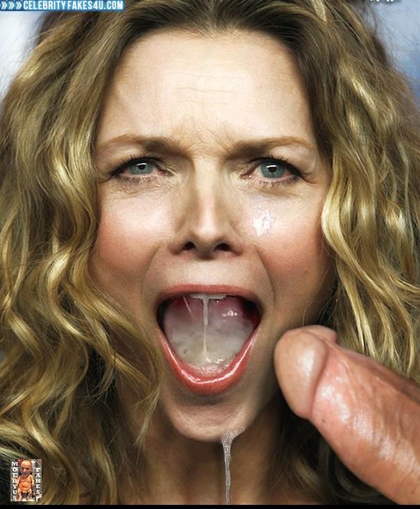 Michelle Pfeiffer Fake, Blowjob, Swallowing Cum, Porn