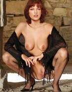 Milla Jovovich Breasts Vagina Legs Spread 001