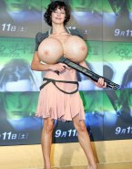 Milla Jovovich Huge Boobs Skirt Xxx 001