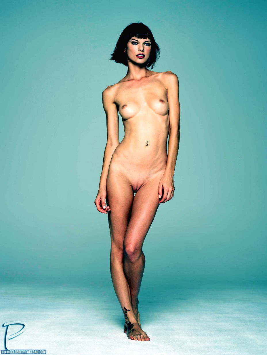 Milla Jovovich Fake, Completely Naked Body / Fully Nude, Sexy Legs, Tits, Porn