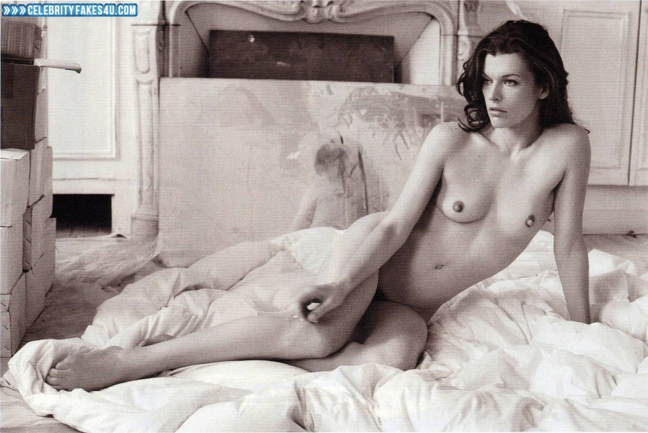 Milla Jovovich Fake, Completely Naked Body / Fully Nude, Porn
