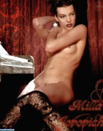 Milla Jovovich Naked Nudes 001