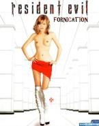 Milla Jovovich Skirt Topless Porn 001