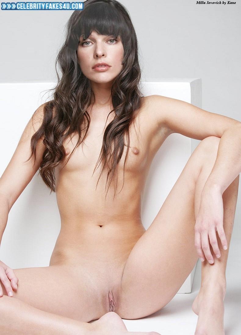 Milla Jovovich Fake, Pussy, Small Tits, Porn