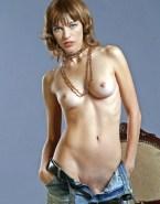 Milla Jovovich Undressing Hot Tits 001
