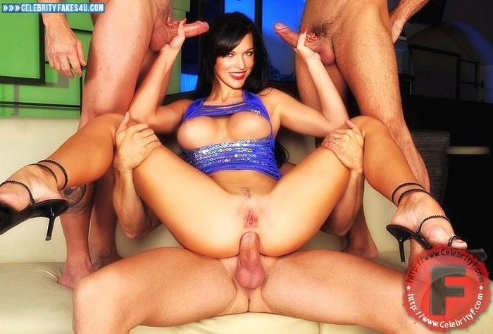 Milla Jovovich Fake, Anal Sex, Group Sex, Handjob, Legs Spread, Sexy Legs, Tits, Porn