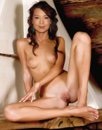 Ming Na Wen Boobs Exposed Legs Spread Pussy Nude 001