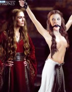 Cersei Lannister (Lena Headey) Tortures Margaery Tyrell (Natalie Dormer) - Game of Thrones Bondage Porn Fake-001