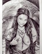 Natalie Dormer as Margaery Tyrell Nude - Game of Thrones Cartoon Fake-002