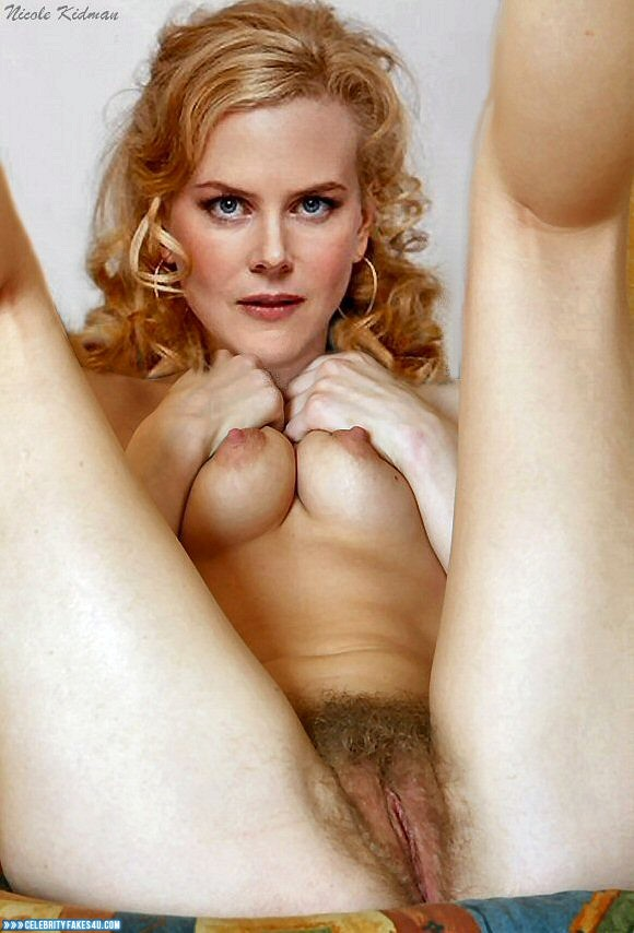 Nicole Kidman Fake, Hairy Pussy, Squeezing Breasts, Porn