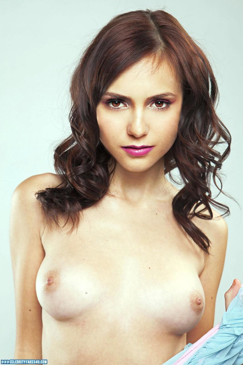 Nina Dobrev Fake, Tits, Porn