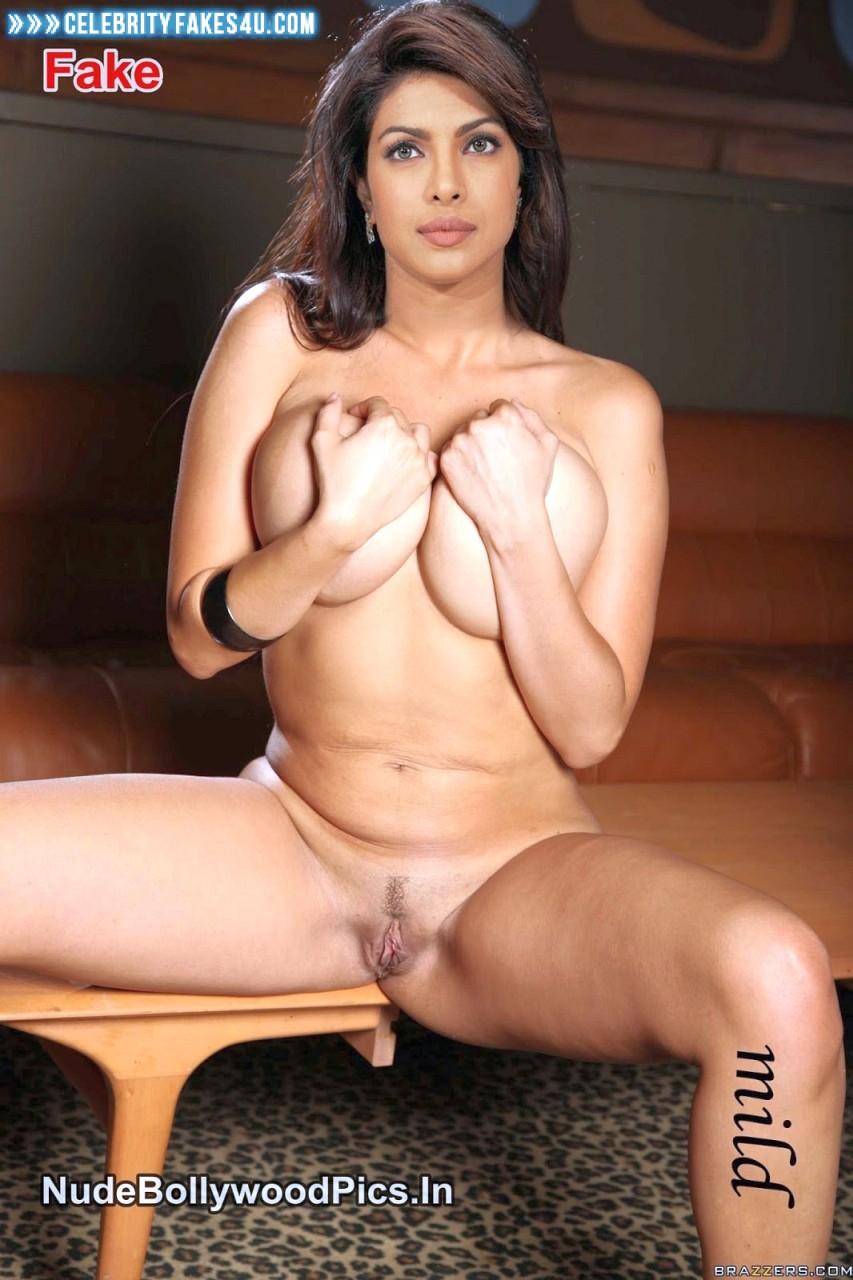 Priyanka Chopra Squeezing Big Tits Nude 001 -9773