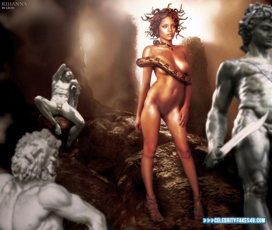 Rihanna Naked Body Boobs Fake 001  Celebrity Fakes 4U-7785