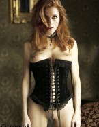 Rose Leslie Lingerie Squeezing Tits Fake 001
