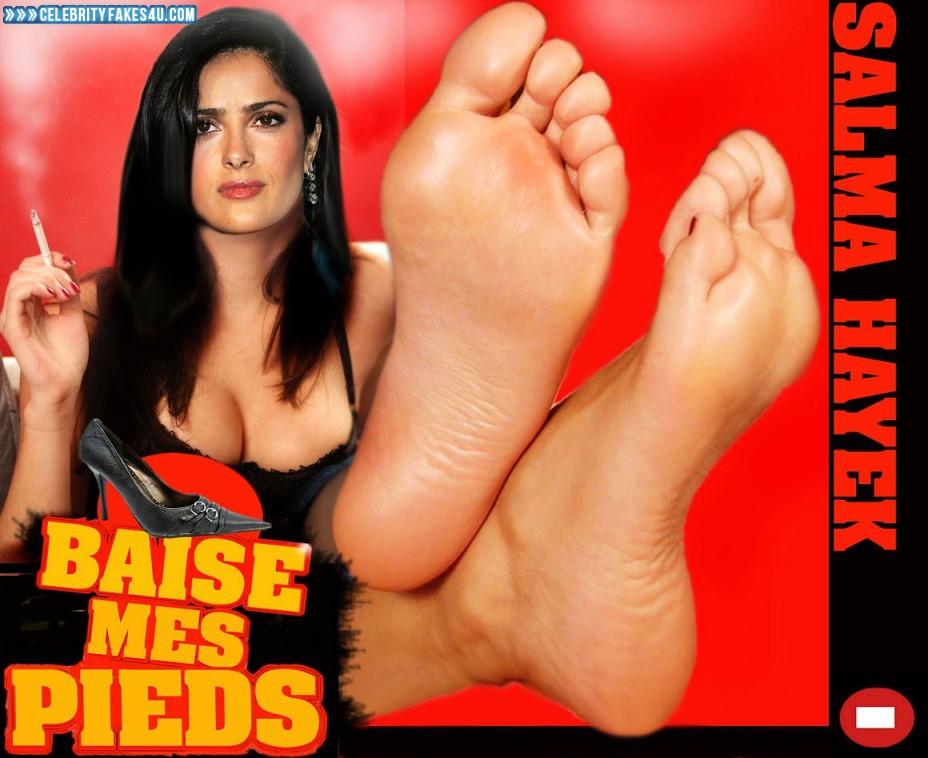 Salma Hayek Fake, Feet, Smoking, Porn