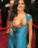 Salma Hayek Red Carpet Event Shows Her Tits Porn 001