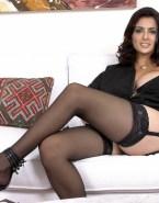 Salma Hayek Stockings Nude 001