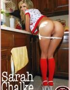 Sarah Chalke Bending Over Pulls Panties Down Porn 001
