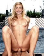 Sarah Michelle Gellar Reverse Cowgirl Sex Nude 001