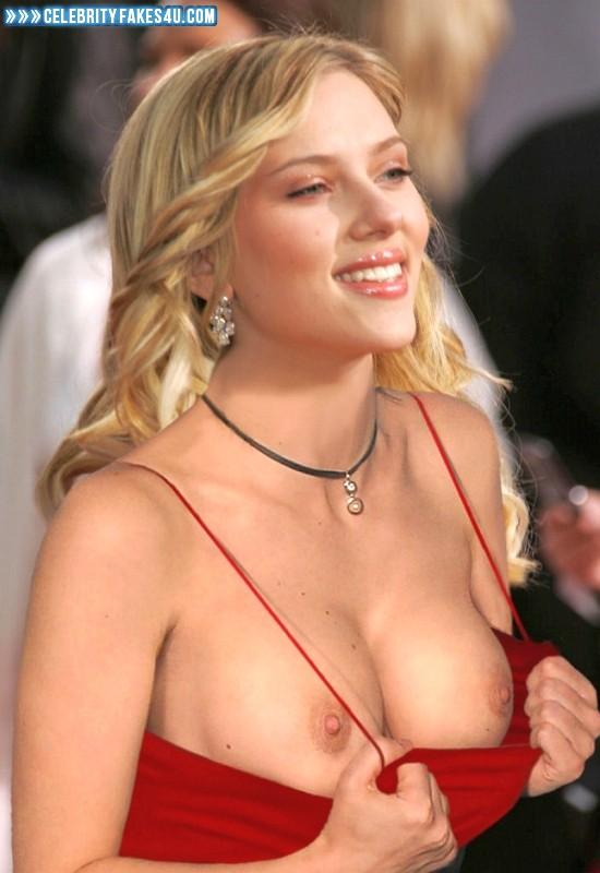 Scarlett Johansson Fake, Flashing Tits, Horny, Public, Tits, Porn