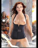 Scarlett Johansson Iron Man No Panties Porn 001