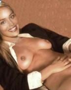 Sharon Stone Nipples Pierced Rubbing Pussy 001