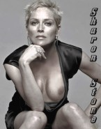 Sharon Stone Tit Pops Out Porn 001