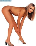 Stacy Keibler Completely Naked Legs 001