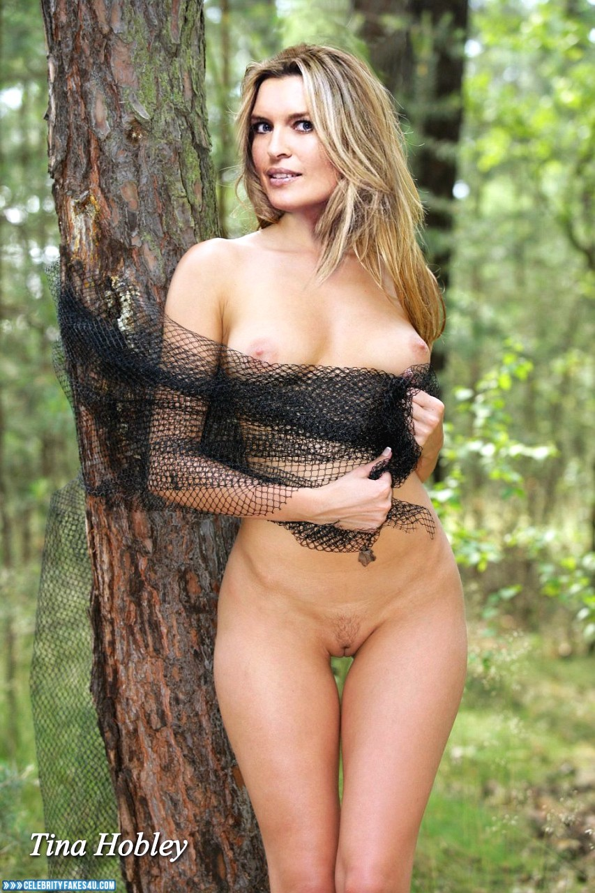 Tina Hobley Fake, Completely Naked Body / Fully Nude, Outdoor, Pantiless, Sexy Legs, Tits, Porn