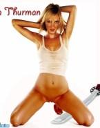 Uma Thurman Naked Without Underwear 001